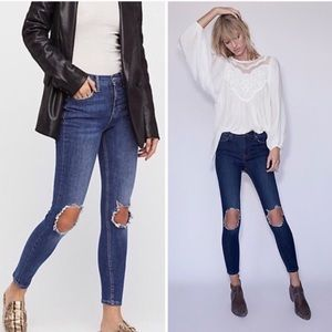 FP Busted Knee Skinny Jeans